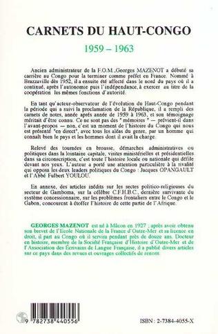 4eme Camets du Haut-Congo 1959-1963