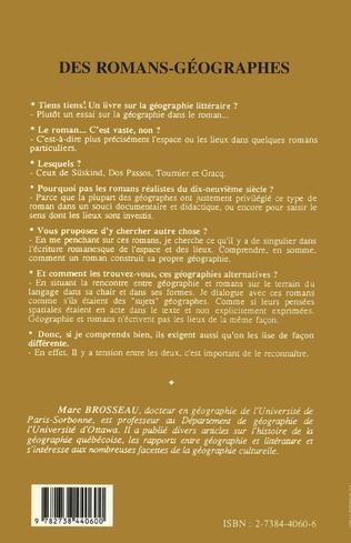 4eme Des romans-géographes