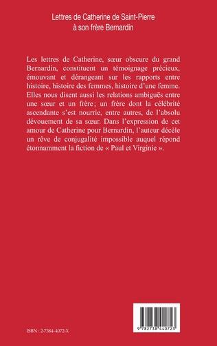 4eme Lettres de Catherine de Saint-Pierre à son frère Bernardin
