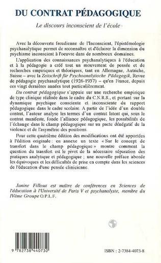 4eme Du contrat pédagogique