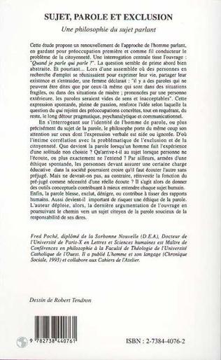4eme Sujet, parole et exclusion
