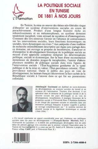 4eme La politique sociale en Tunisie de 1881 à nos jours