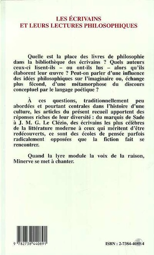 4eme Les écrivains et leurs lectures philosophiques