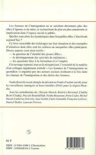 4eme LES FEMMES DE L'IMMIGRATION AU QUOTIDIEN