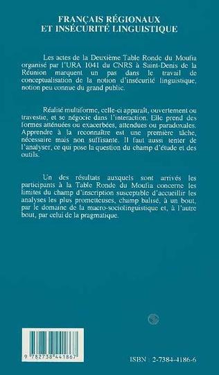 4eme Français régionaux et insécurité linguistique