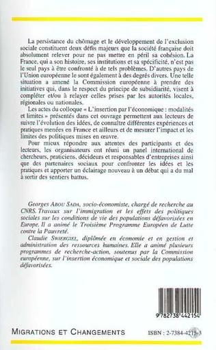 4eme L'INSERTION PAR L'ÉCONOMIQUE MODALITÉS ET LIMITES