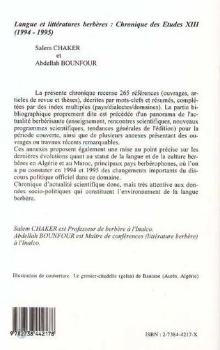 4eme Langues et littératures berbères
