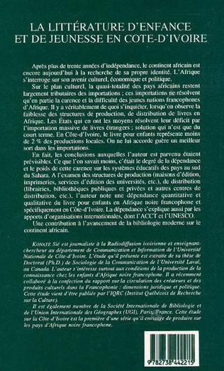 4eme La littérature d'enfance et de jeunesse en Côte d'Ivoire
