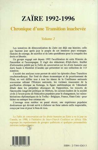4eme Zaïre 1992-1996