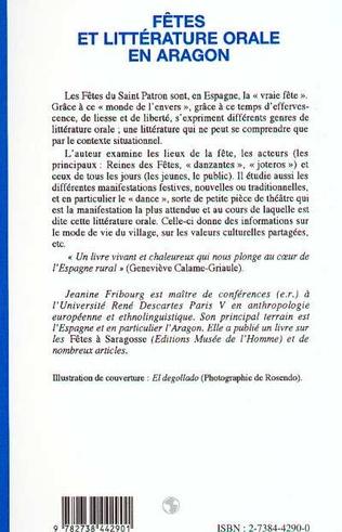 4eme Fêtes et littérature orale en Aragon