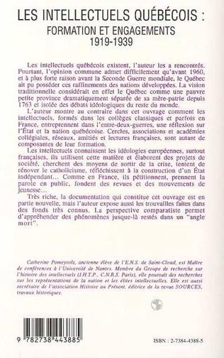 4eme Les intellectuels québecois