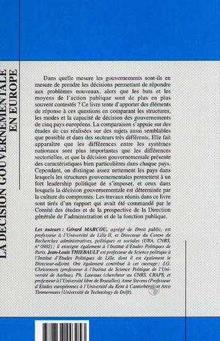 4eme La décision gouvermentale en Europe