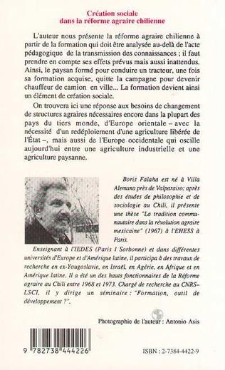 4eme Création sociale dans la réforme agraire chilienne