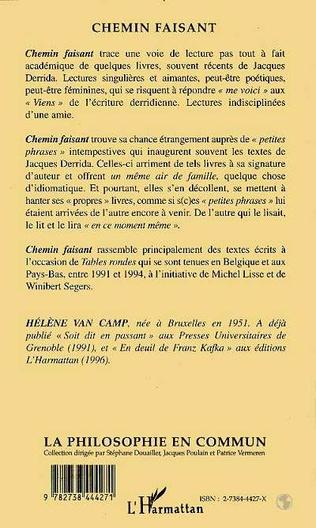 4eme Chemin faisant avec Jacques Derrida