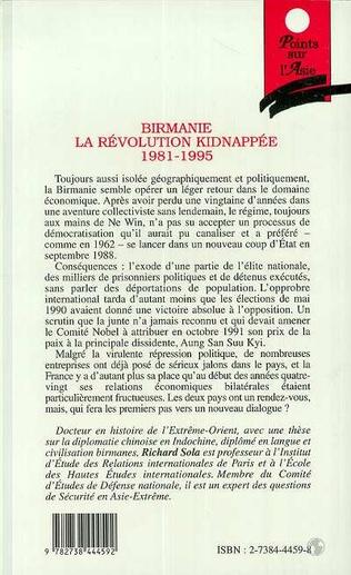 4eme Birmanie, la révolution kidnappée 1981-1995