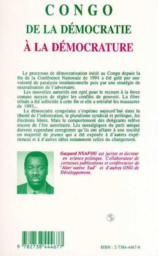 4eme Congo : de la démocratie à la démocrature