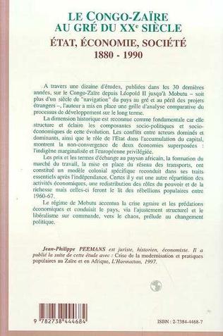 4eme Le Congo-Zaïre au gré du XXe siècle