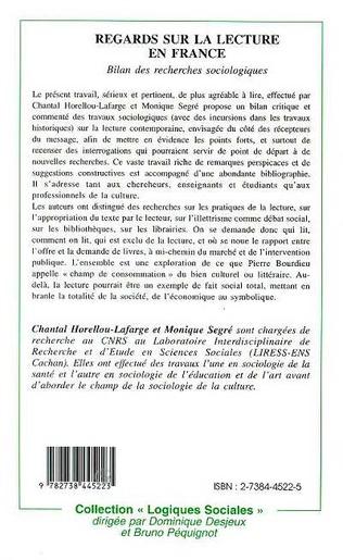 4eme Regard sur la lecture en France