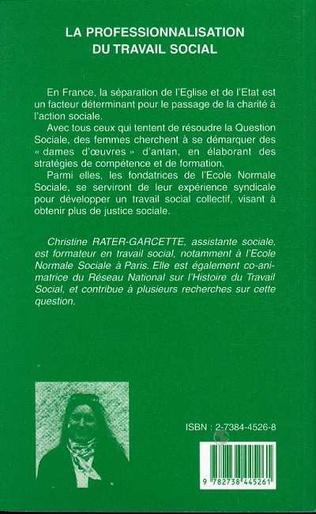 4eme LA PROFESSIONNALISATION DU TRAVAIL SOCIAL