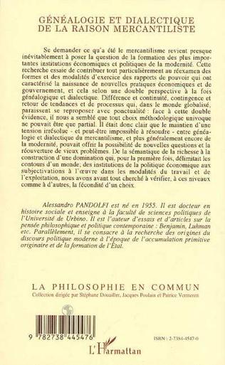 4eme Généalogie et dialectique de la raison mercantiliste