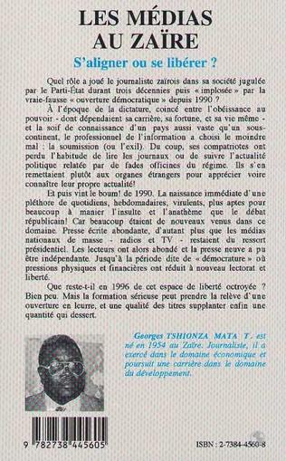 4eme Les médias au Zaïre