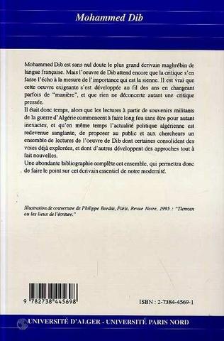 4eme Mohammed Dib (n°21-22)