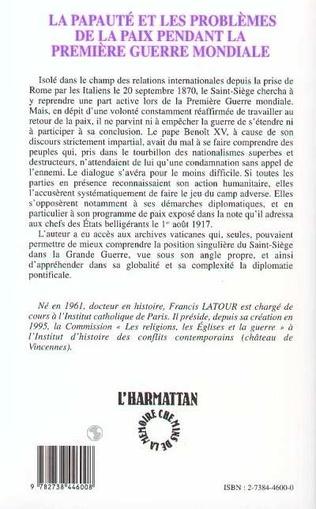 4eme La papauté et les problèmes de la paix pendant la première G