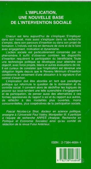 4eme L'IMPLICATION, UNE NOUVELLE BASE DE L'INTERVENTION SOCIALE