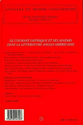 4eme Le courant gothique et ses avatars dans la littérature anglo-américaine