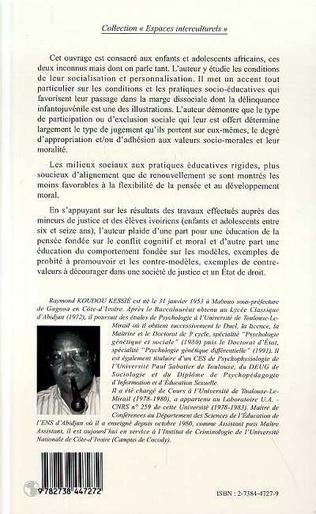 4eme Education et développement moral de l'enfant et de l'adolescent africains
