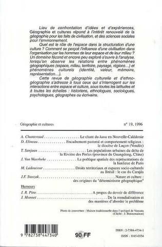 4eme Géographie et cultures n°19