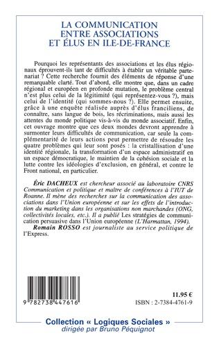 4eme La communication entre associations et élus en Ile-de-France