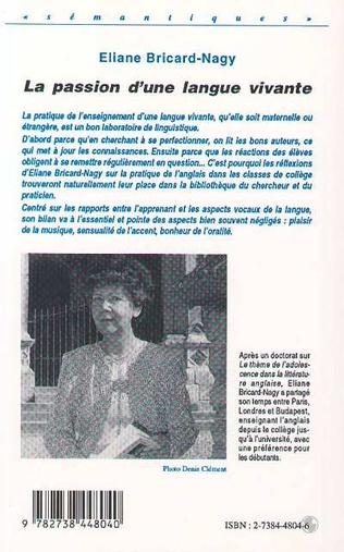 4eme LA PASSION D'UNE LANGUE VIVANTE