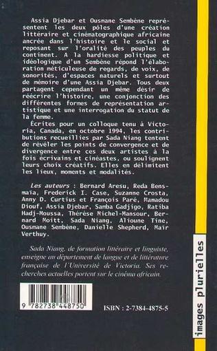 4eme Littérature et cinéma en Afrique francophone: Ousmane Sembene et Assia Djebar