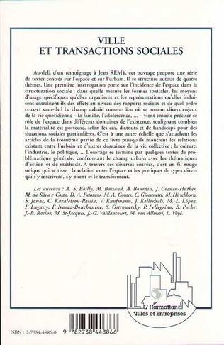 4eme Villes et transactions sociales (Hommage au professeur Jean Remy)
