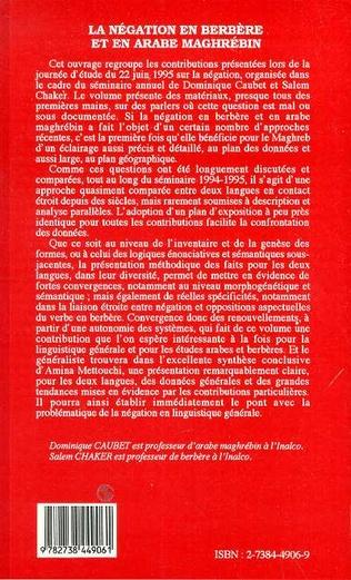 4eme La négation en berbère et en arabe maghrébin