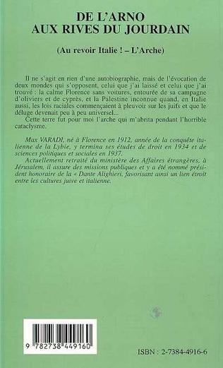 4eme De l'Arno aux rives du Jourdain (Au revoir Italie ! - L'Arche)