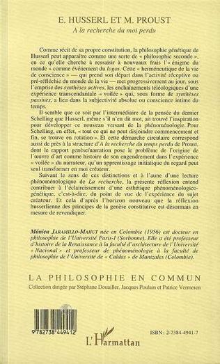 4eme Husserl et M. Proust