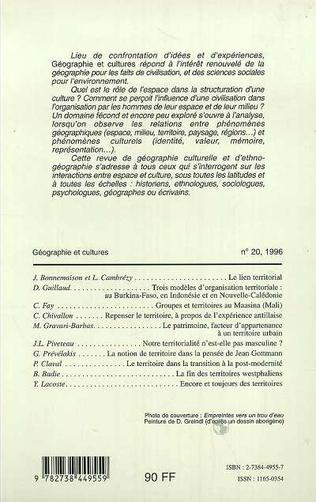 4eme Géographie et cultures n°20