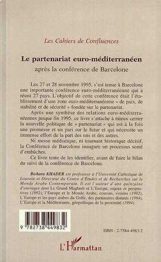 4eme Le partenariat euro-méditerranéen après la conférence de Barcelone