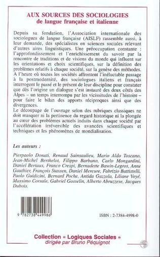 4eme Aux sources des sociologies de langue française et italienne