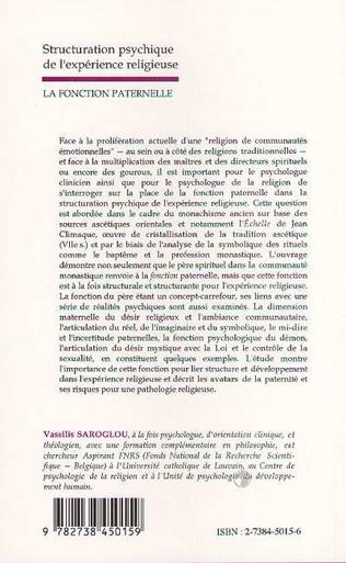 4eme STRUCTURATION PSYCHIQUE DE L'EXPERIENCE RELIGIEUSE