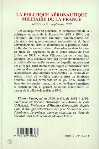 4eme La politique aéronautique militaire de la France