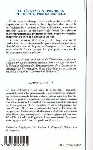 4eme REPRESENTATIONS, PRATIQUES ET IDENTITES PROFESSIONNELLES