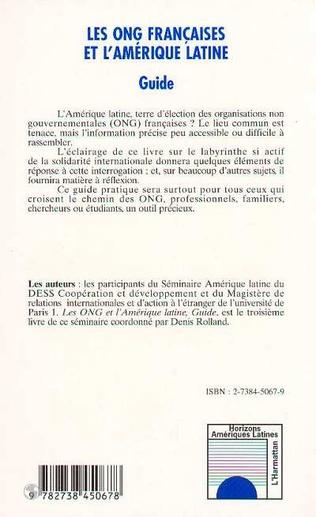 4eme Les ONG françaises et l'Amérique Latine