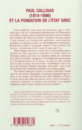 4eme Paul Calligas (1814-1896) et la fonction de l'Etat grec