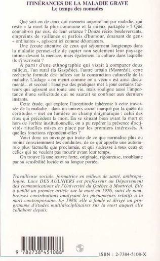 4eme ITINERANCES DE LA MALADIE GRAVE