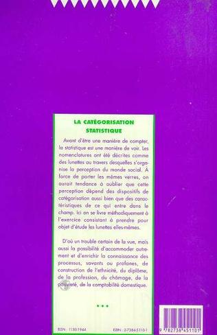 4eme La catégorisation statistique