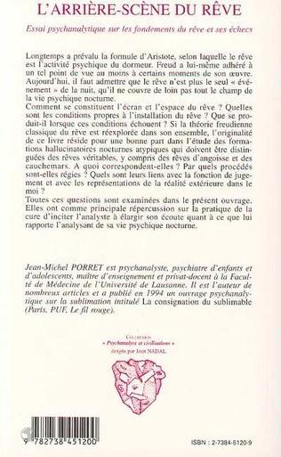 4eme L'ARRIERE-SCÈNE DU RÊVE