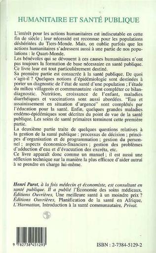 4eme HUMANITAIRE ET SANTÉ PUBLIQUE